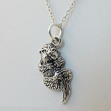 Sea Otter Necklace - 925 Sterling Silver - Otter Charm Cute Animal Sea NEW Ocean