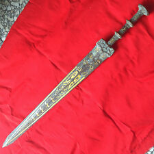 antique   Chinese ancient weapon bronze dragon sword