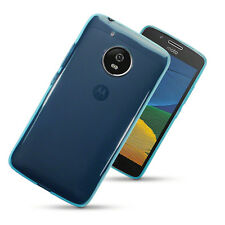 Thin Rubber Jelly Case for Samsung Motorola Moto G5 - Blue