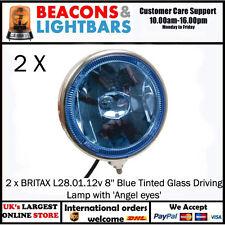 """2 X Britax L28.01.12 V 8"""" azul teñida de cristal lámpara de conducción con ojos de ángel """""""