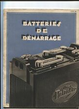 N°5604 / catalogue batterie de démarrage FULMEN 1933  /  32 pages + tableau