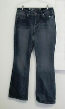 Seven7 Womens Embellished Boot Cut Jeans Protege Blue MY10587OZ Sz 12 - NWT
