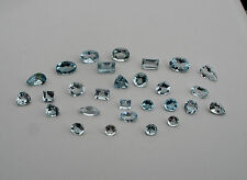Aquamarine gem mix loose parcel over 5 carats