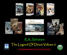 R.A. Salvatore THE LEGEND OF DRIZZT Volume #2 ~ MP3 CD 10 Disc Set ~ UNABRIDGED