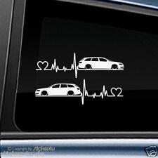 (494) 2x Fun Sticker Aufkleber / Herzschlag Audi A6 4f Avant RS6