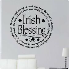 """24"""" Irish Blessing May The Road Rise Up To Meet You Wall Decal Sticker God"""