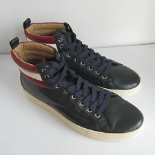 C-1398108 New Bally Heaven Navy Lamb Nappa Leather Sneakers Shoes Size US 10.5