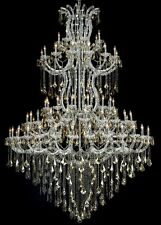 "Palace Maria Theresa  96""H 85 Lit Crystal Chandelier, Chrom/ Golden Teak Crystal"