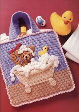 Mignon Bain temps bear baby sac vintage crochet pattern fait un beau cadeau