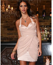 NWT Lipsy @asos oyster pink grecian drape halter dress with tulip skirt £75 UK6