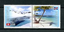 Switzerland 2016 MNH JIS Dominican Republic 2v Set Mountains Beaches Stamps