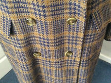 GENUINE BURBERRY LONG TWEED COAT .. 100% WOOL .. UK  12-14-16+ .. EXCELLENT