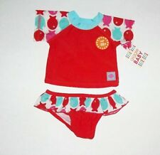 NEW Little Girl's 2 Piece Giggle Baby Top & Bottom Swimsuit Set 12 TO 18  Months