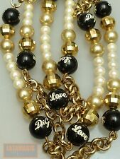 VINTAGE KETTE  DOLCE & GABBANA LANG ITALIEN HUGE LOVE NECKLACE