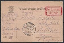 Reich 1915 FieldpostPC RUTTKA+Von der Armee im Felde