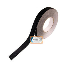 25mm x 10m Black ANTI SLIP TAPE High Grip Adhesive Sticky Backed Non Slip Safety