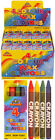 Packs 4 Mini Colouring Wax Crayons Lucky Dip Party Bag Toys Fillers 1 to 240 UK