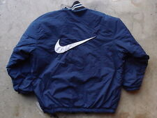 Vintage 90s Nike Swoosh Logo Reversible Jacket Size XL Navy Black Basketball