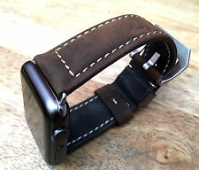 Quality Vintage Brown Leather Watch Strap  Band for Apple Watch 38mm Series 1/2