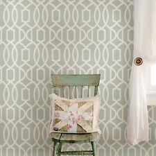 NUWALLPAPER GRAND TRELLIS PEEL AND STICK WALLPAPER - GREY NU1421 - FEATURE WALL