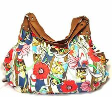RACHEL Slouchy Hobo Shoulder BAG CARTOONS ROMANCE COMIC STRIPS Suede