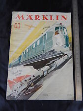MARKLIN 1938 SCALA 00 DEPLIANT BROCHURE ORIGINALE IN ITALIANO PROSPEKT HO H0