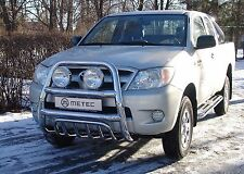 PARE BUFFLE TOYOTA HILUX 2006-2016 NON HOMOLOGUE INOX DIA 60mn, avec grille