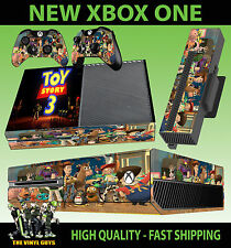 XBOX ONE CONSOLE STICKER TOY STORY 3 BUZZ LIGHTYEAR WOODY SKIN & 2 PAD SKINS