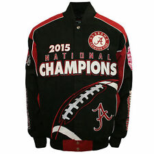 Alabama Crimson Tide 2015 National Championship Twill Jacket - Large Free Ship