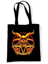 PENTAGRAM SKULL SHOULDER BAG - Goth Gothic Pagan Magick Satan Satanic
