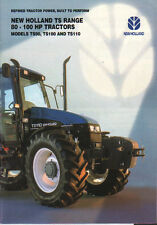 "New holland ""ts gamme"" 80 - 100hp tracteur brochure dépliant"