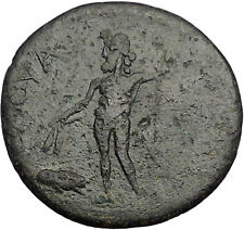 ANTONINUS PIUS 138AD Savatra in Lycaonia Male God Ancient Roman Coin i55732