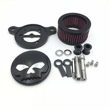 Black Air Cleaner Intake Filter System Kit For Harley Sportster XL883 1988-2015