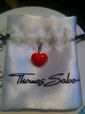 Rare Thomas Sabo Sterling Silver & Red Enamel Locket Charm Pendant & Gift Pouch