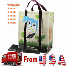 4 X Super Heavy Duty EcoJeannie Laminated Woven Reusable Shopping Bags/ Recycled