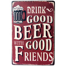 Drink Good Beer Poster Vintage metal Tin signs Beer Pub Home Wall Decor 20*30cm