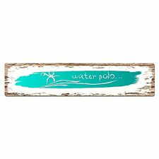 SP0394 WATER POLO Street Chic Sign Bar Store Shop Cafe Home Wall Interior Decor