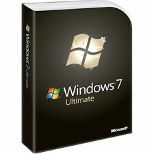 Microsoft Windows 7 Ultimate (Perfect, Rare Collector; First Retail Box Release)