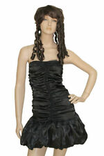 Sexy Dark Goth Angel Fancy Dress Costume Outfit Plus Deluxe Black Wings