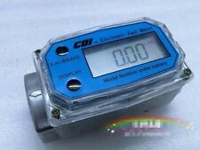 "Turbine Digital Diesel Fuel Flow Meter Oval Gear Flow Gauge BSPT/NPT 1""  6"