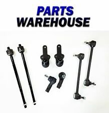8 Pc Kit Front Inner Outer Tie Rod Ends Lower Ball Joints Sway Bar Ends