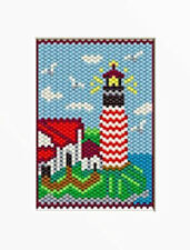 Lighthouse On The Sea Beaded Banner Pattern