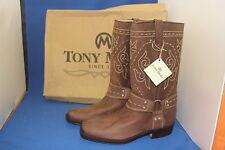 Tony mora botas botas motorista Western botas vaqueras botas talla. 43 nuevo cuero