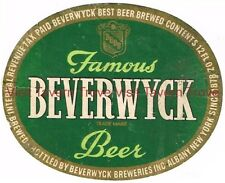 Tough Beverwyck Beer label Tavern Trove  Albany New York