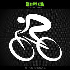 Cycling Abstract Window Decal - Road Bike - White or Choose Color