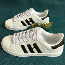 Women's Leather Casual Lace Up Sport Running Sneakers Trainer Shoes Superstar