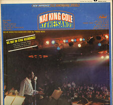 "NAT KING COLE ""AT THE SANDS"" JAZZ VOCAL 60'S LP CAPITOL SMAS 2434"