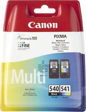 Canon PG540 Black & CL541 Colour Ink Cartridges & FREE Paper For PIXMA MG3500