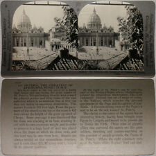 Keystone Stereoview of Saint Peter's Church, Rome, ITALY From 600/1200 Card Set