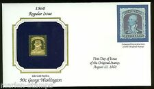 US LOT  OF FOUR  1860 DEFINITIVE  22Kt GOLD REPLICA COVERS  AS SHOWN